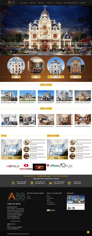 Web kiến trúc nội thất A88