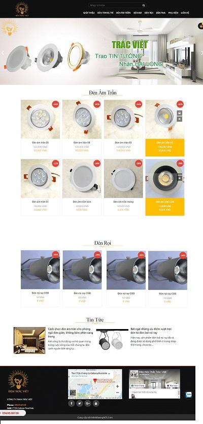 Web đèn Trắc Việt