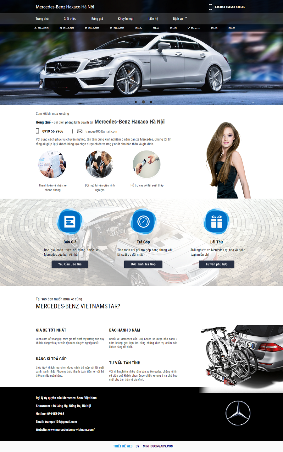 Thiết kế web ô tô