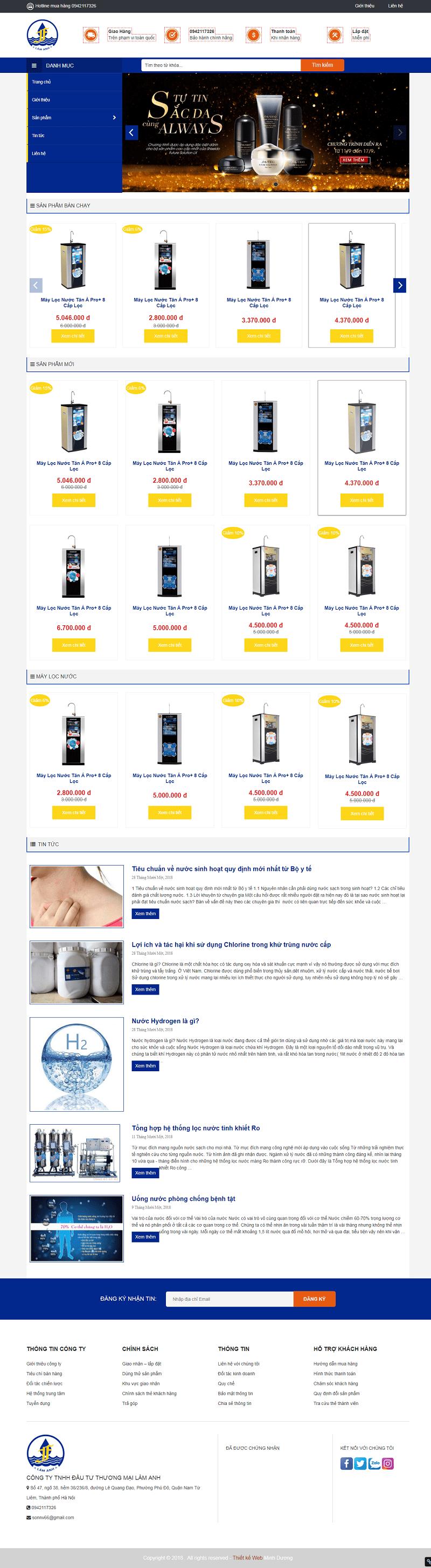 Web máy lọc nước