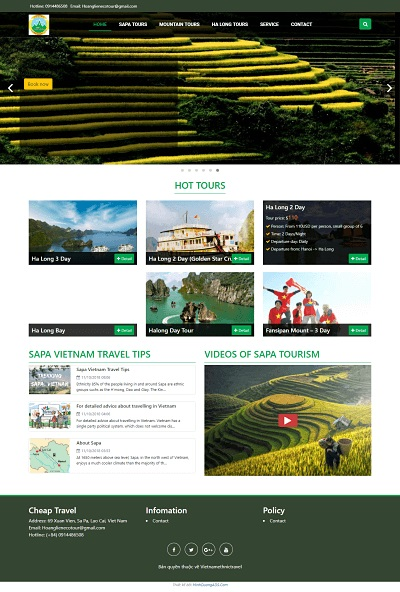Web tour du lịch