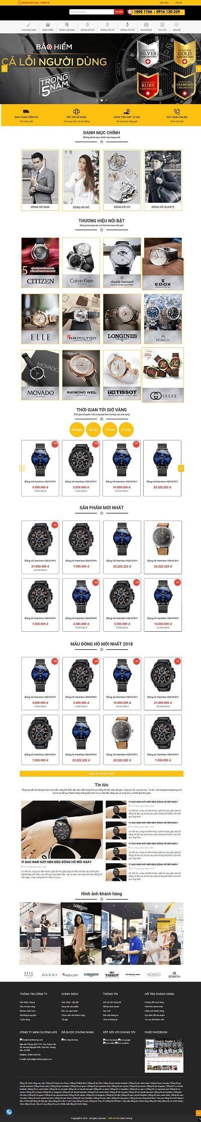 Web đồng hồ đeo tay
