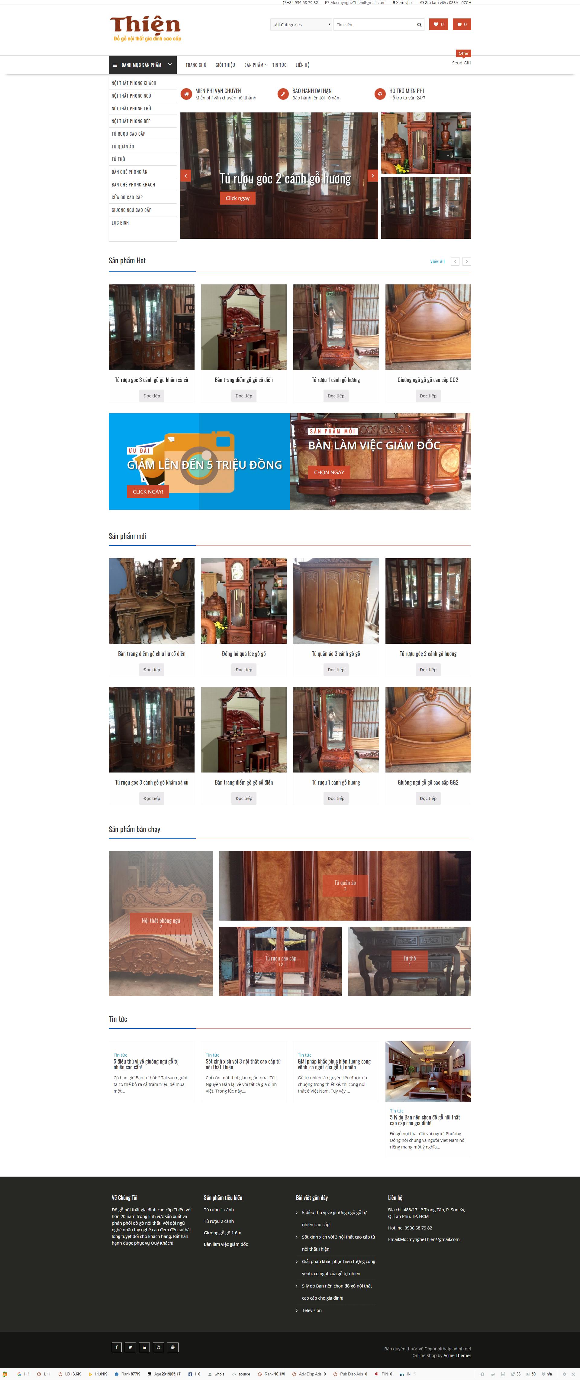 Web đồ gỗ nội thất