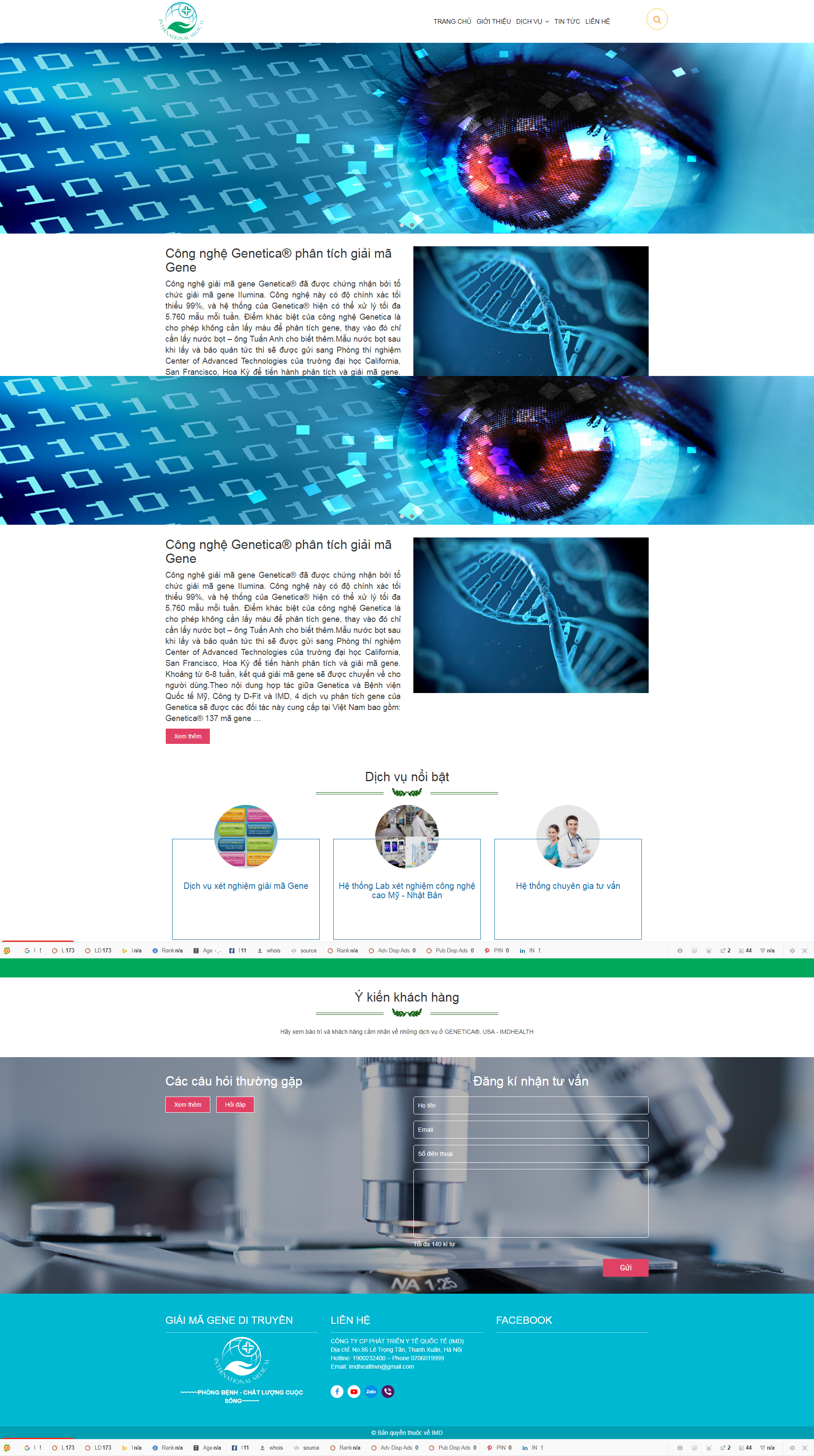 Web giải mã gene