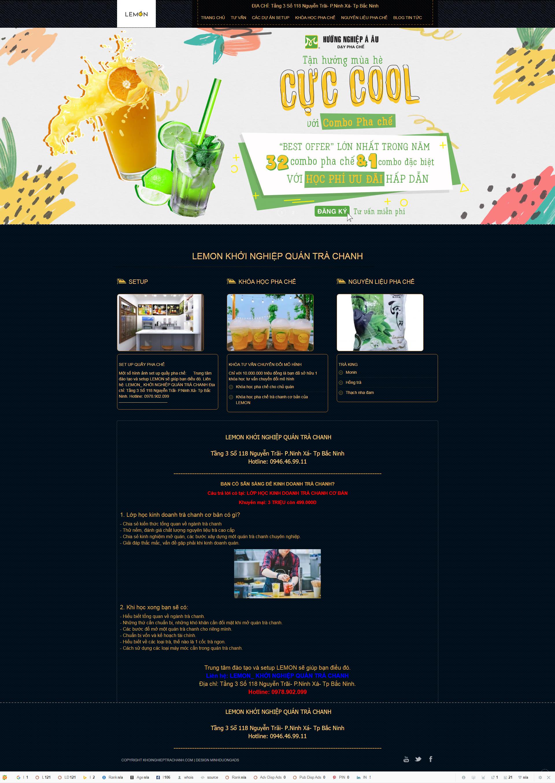 Web trà chanh khởi nghiệp