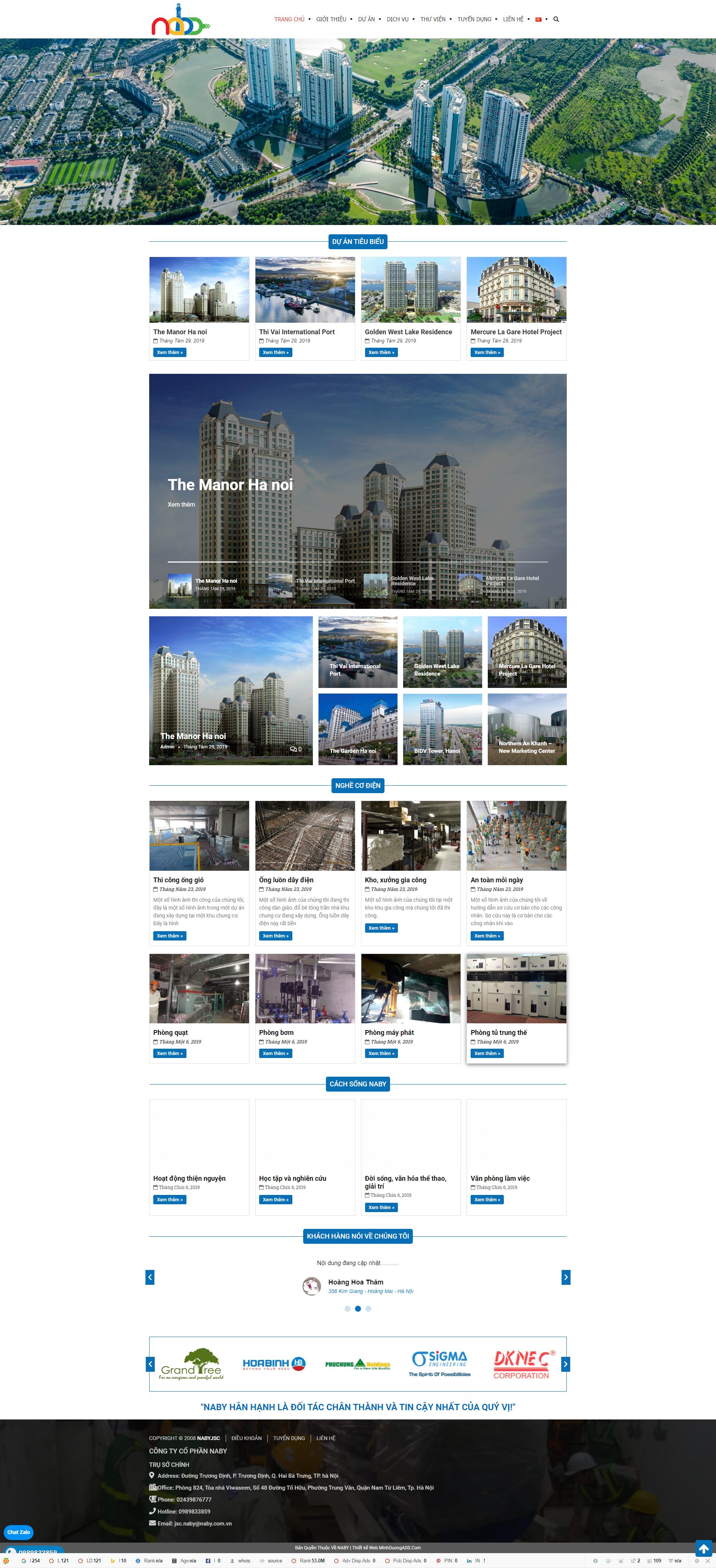 Web kiến trúc Naby