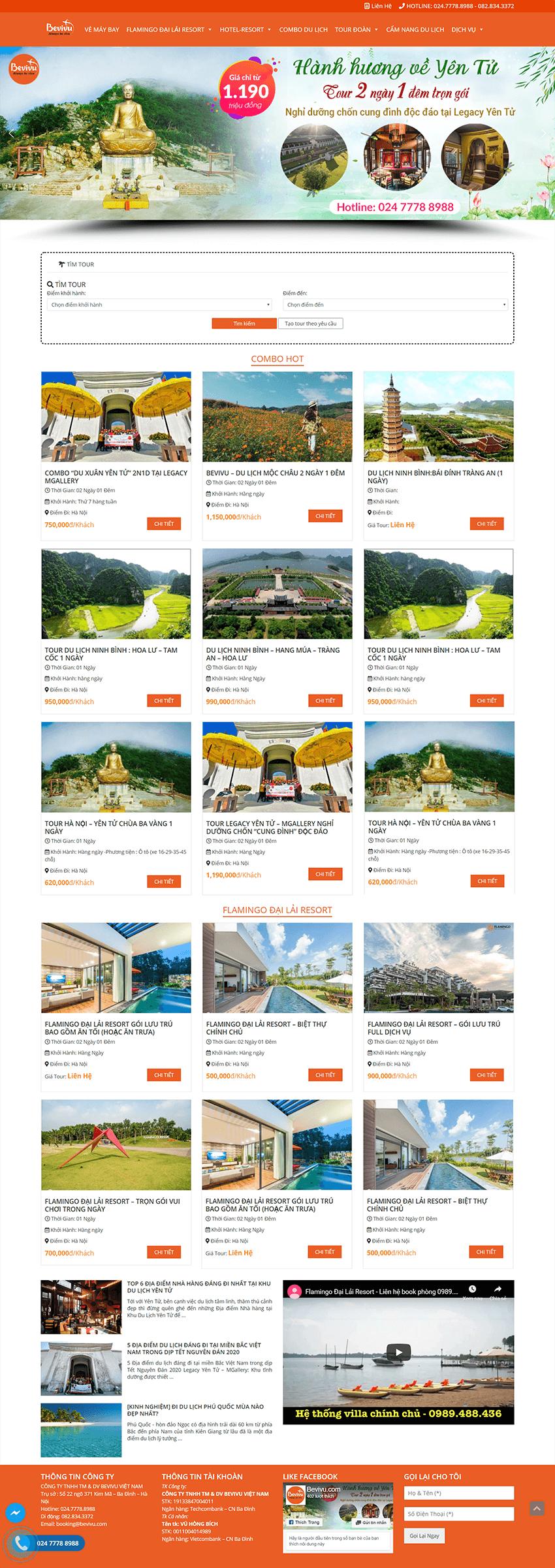 Web du lịch Bevivu