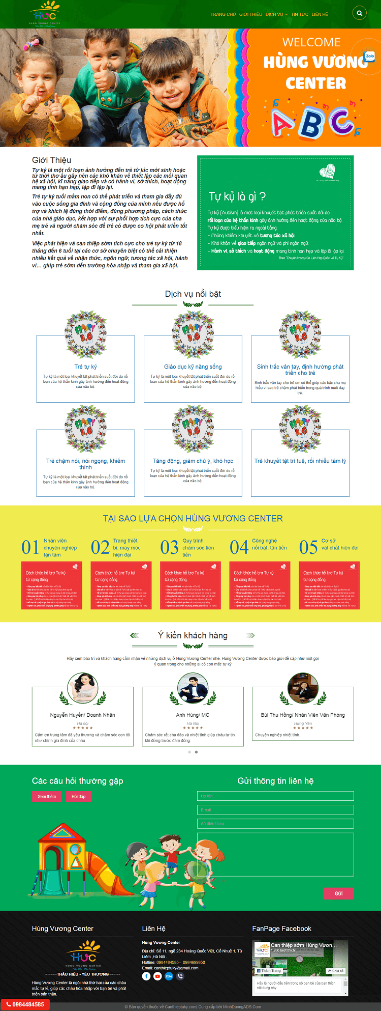 Web giáo dục Hùng Vương