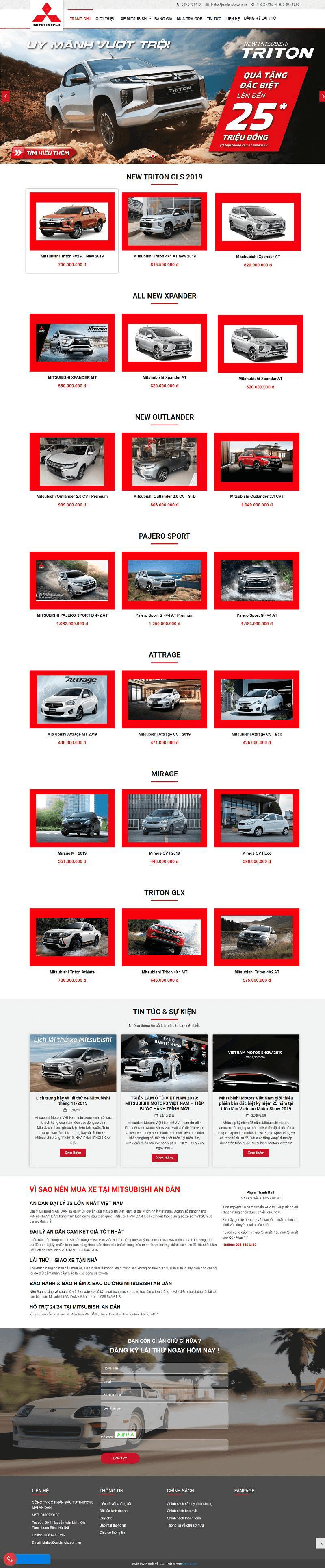 Web ô tô Mitsubishi