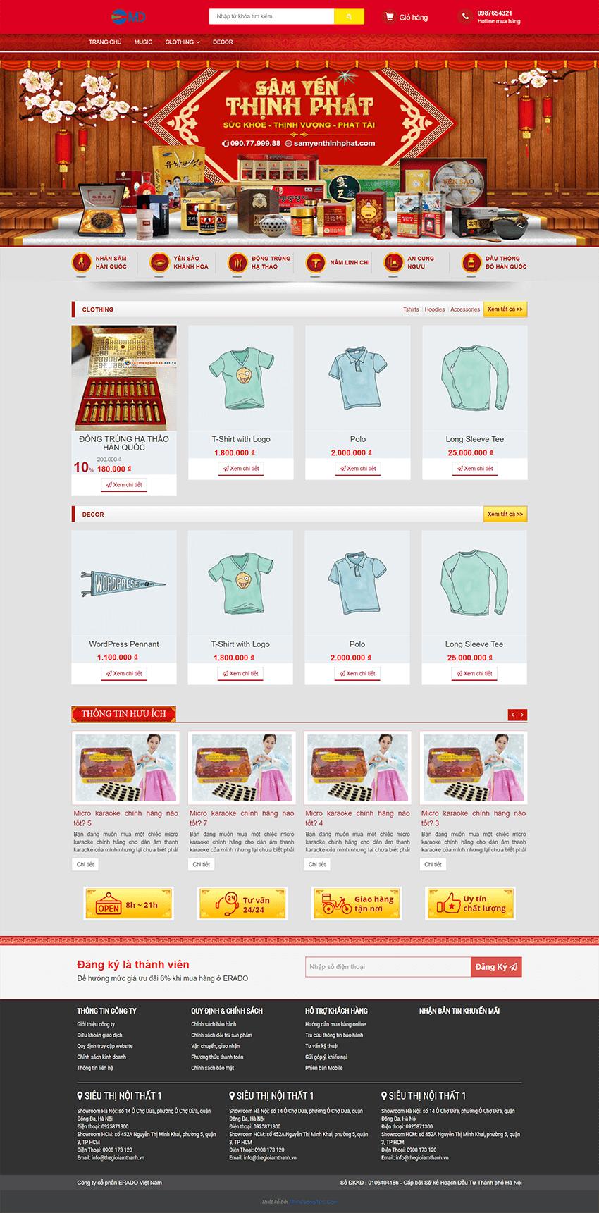 Website bán hàng sâm