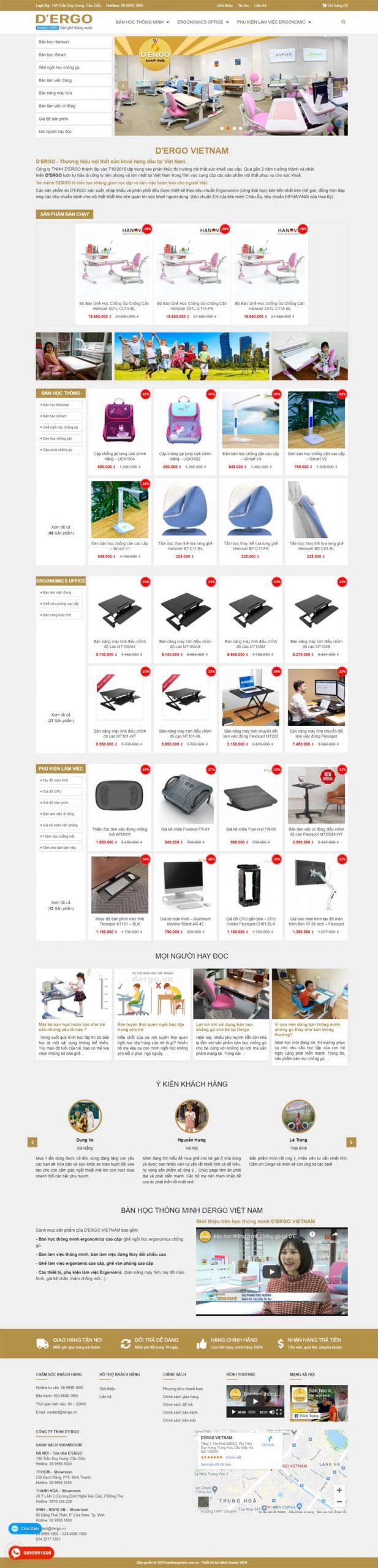 Web bàn học Dergo