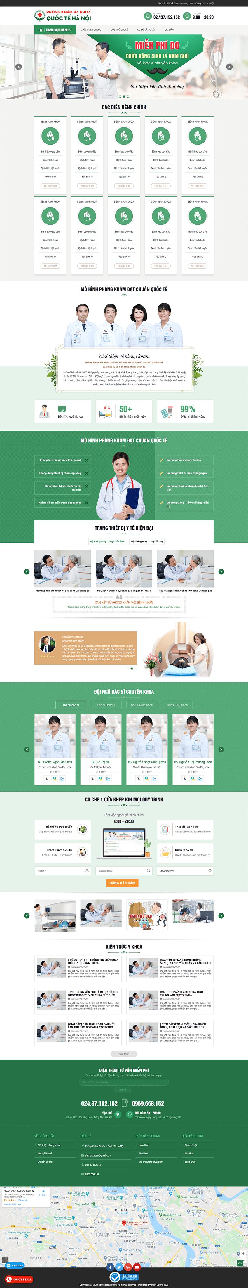 Web bệnh viện đa khoa