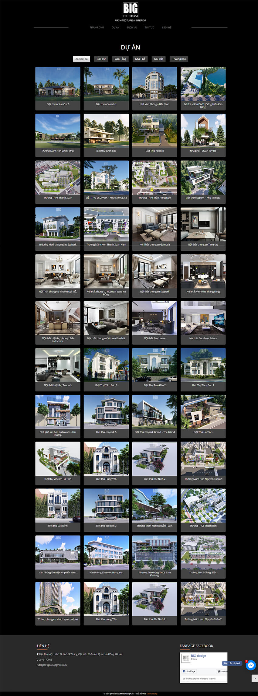 Web kiến trúc BigDesign