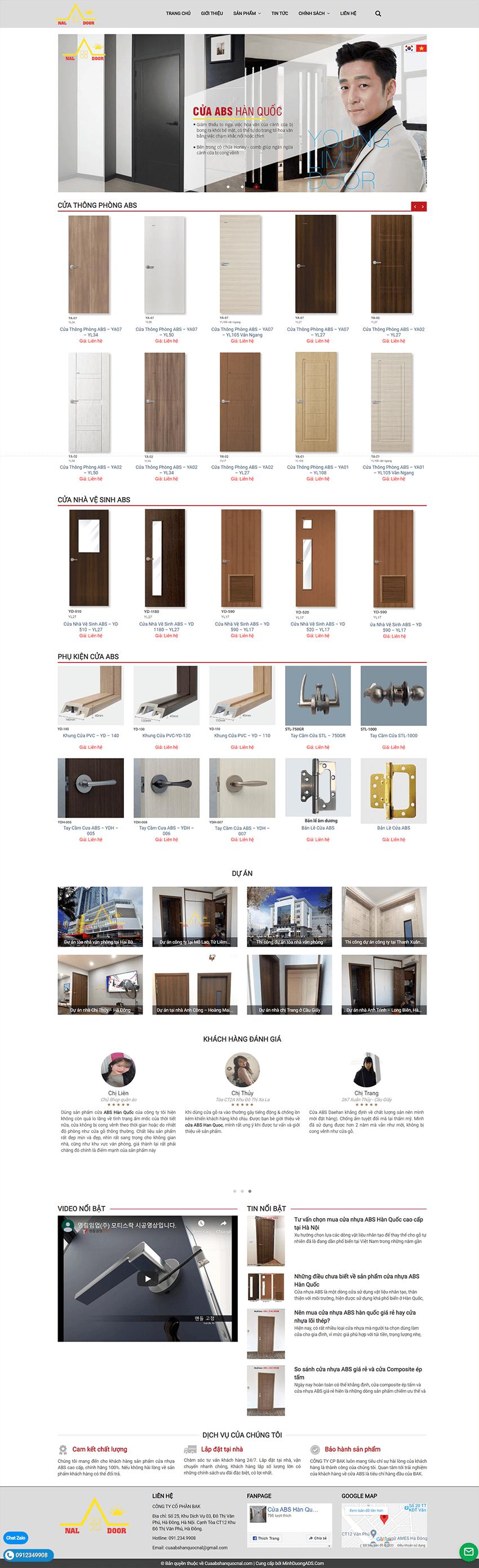 Web cửa Abs Hàn Quốc