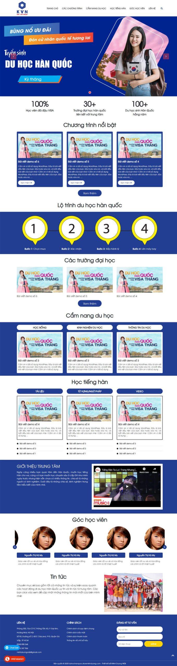 Web du học Hàn Quốc