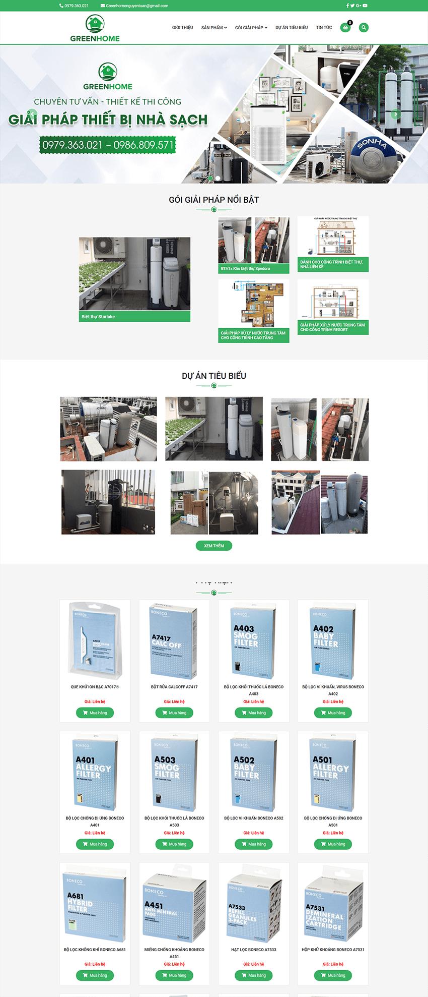 Web kiến trúc Green Home