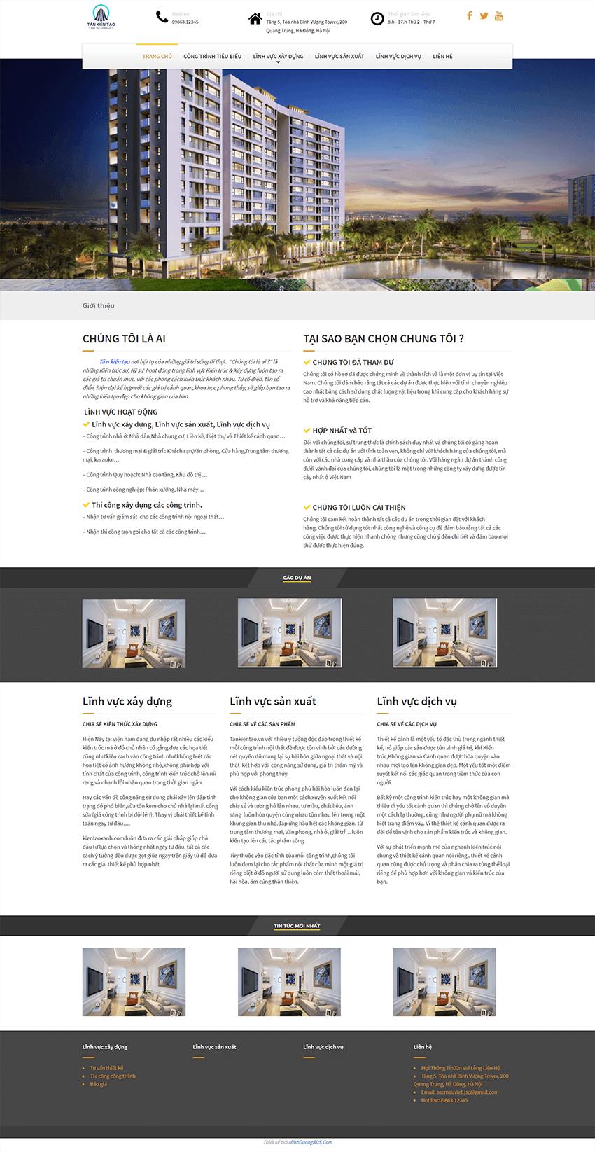 Web kiến trúc Xanh
