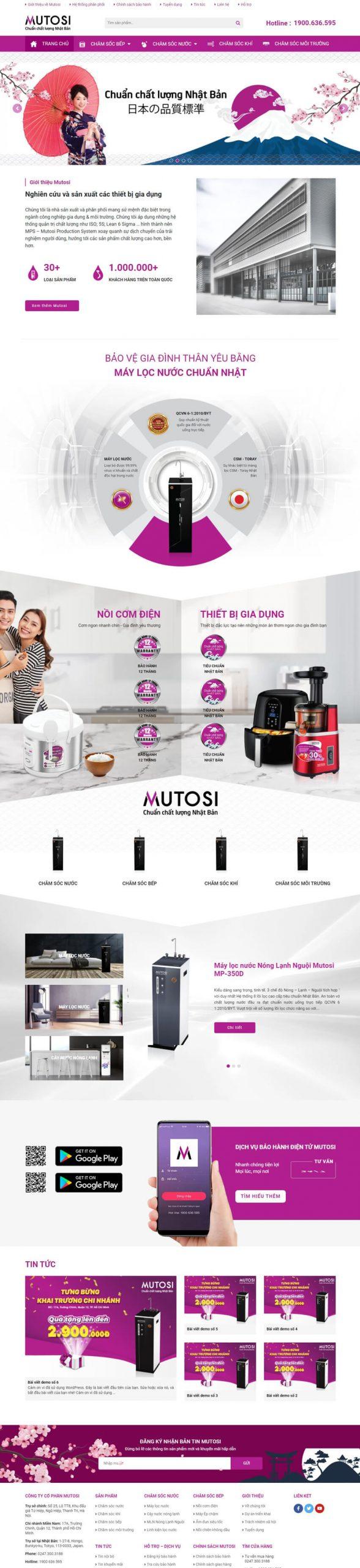 Web máy lọc nước Khôi Nguyên