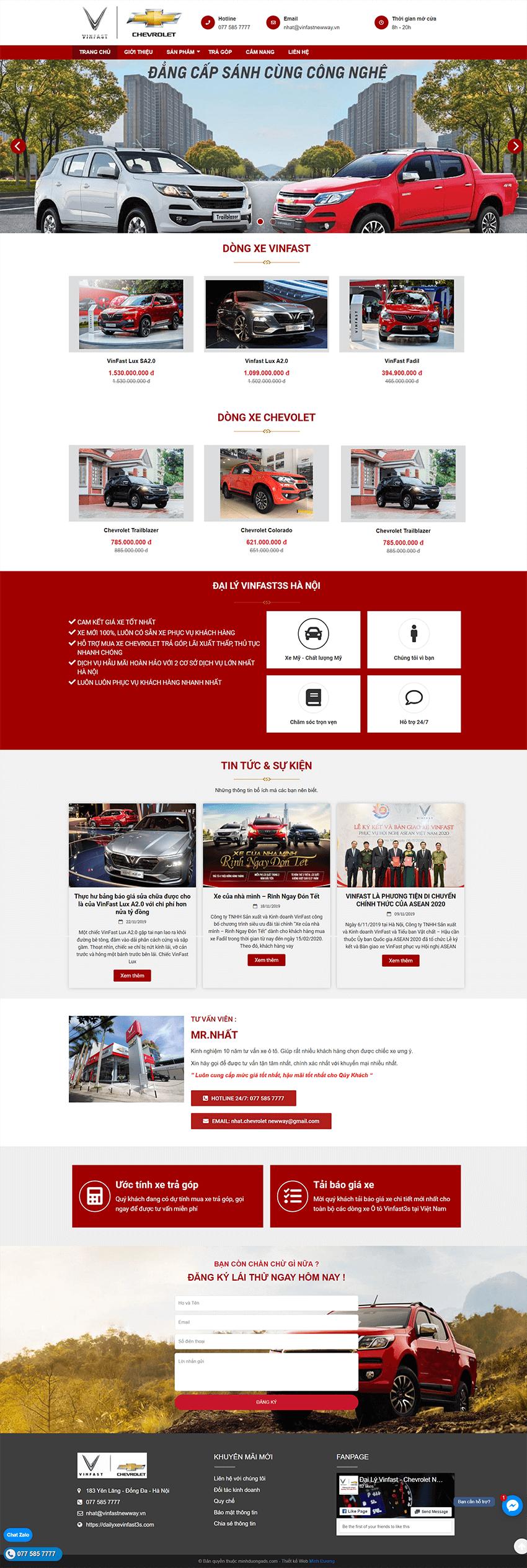 Web ô tô VinFast