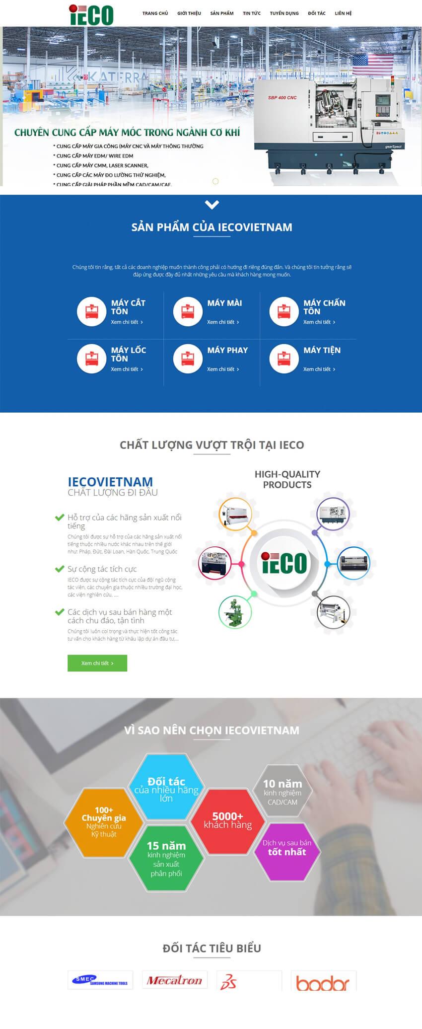 Web thiết bị máy móc IECO