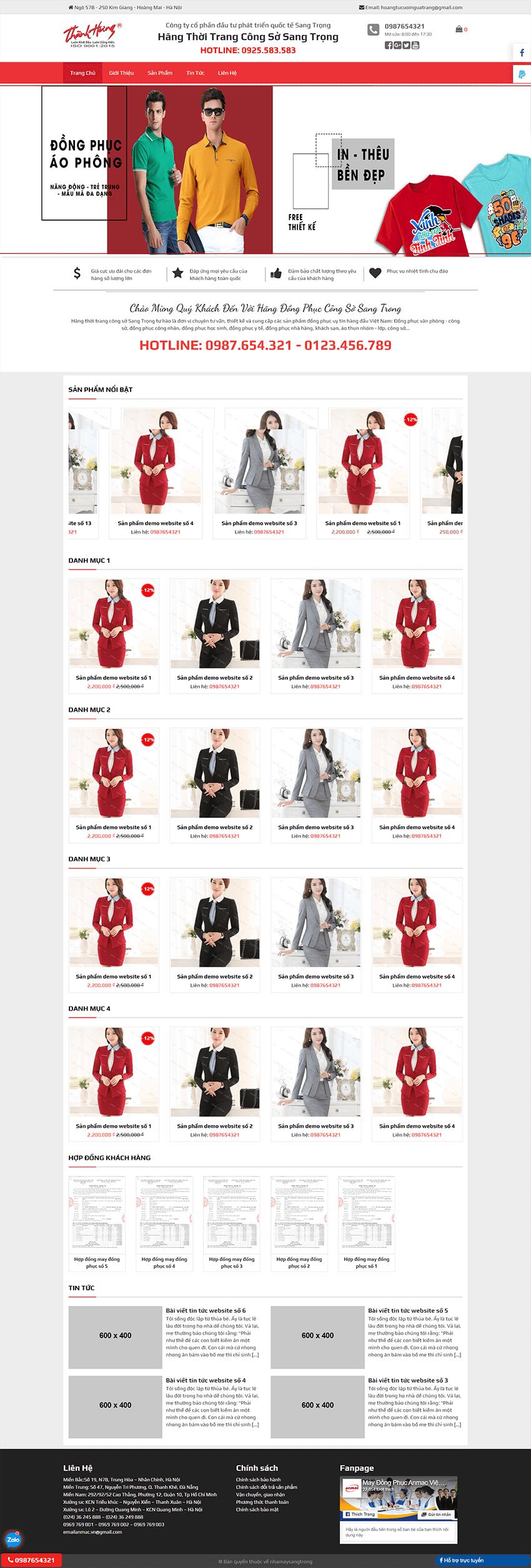Web thời trang Công sở