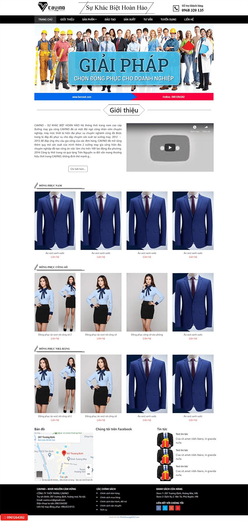 Web thời trang TienVest