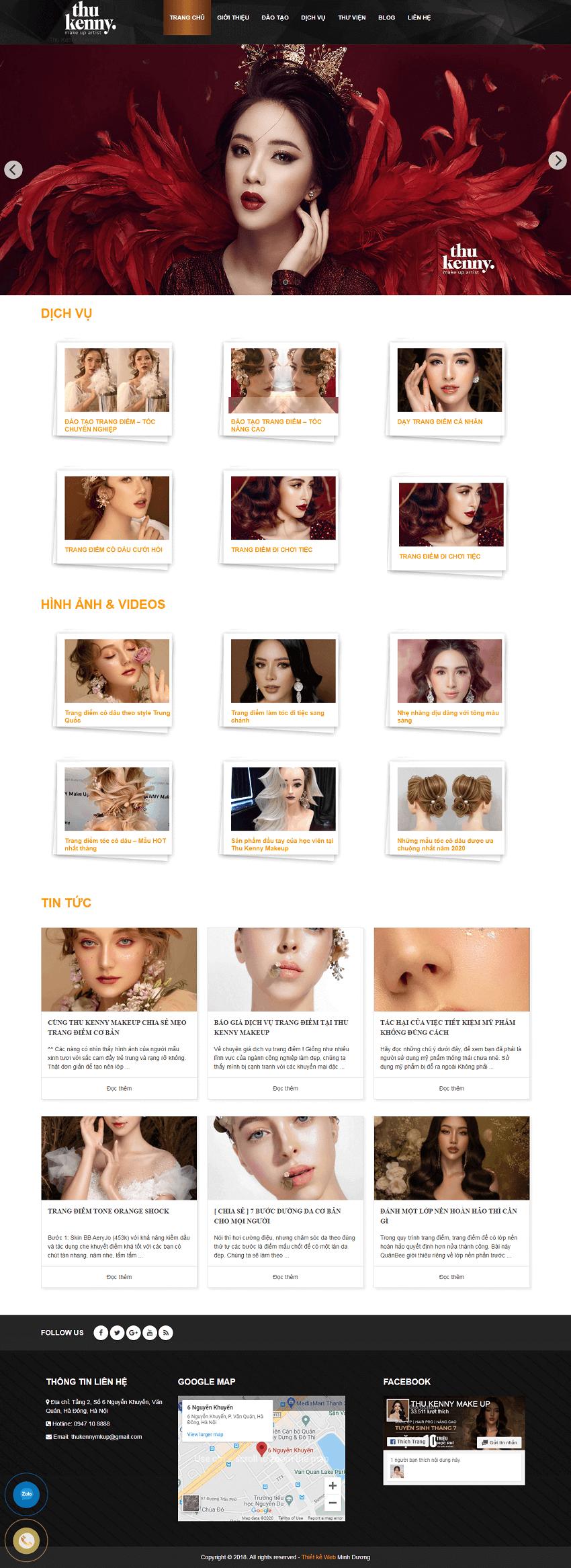 Web trang điểm Kenny