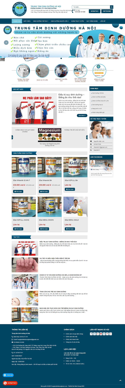 Web dinh dưỡng Hà Nội