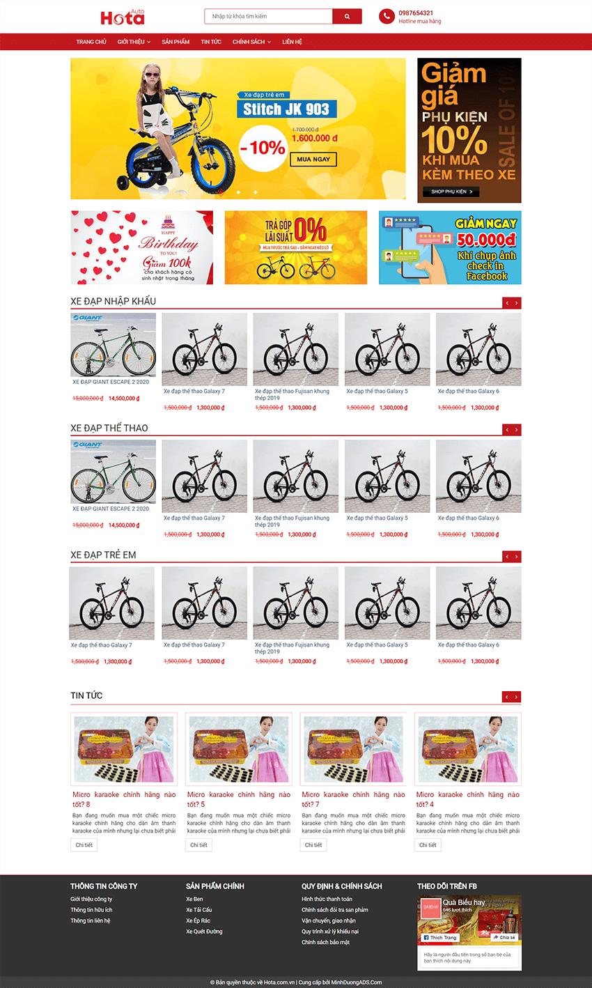 Web xe đạp Hota