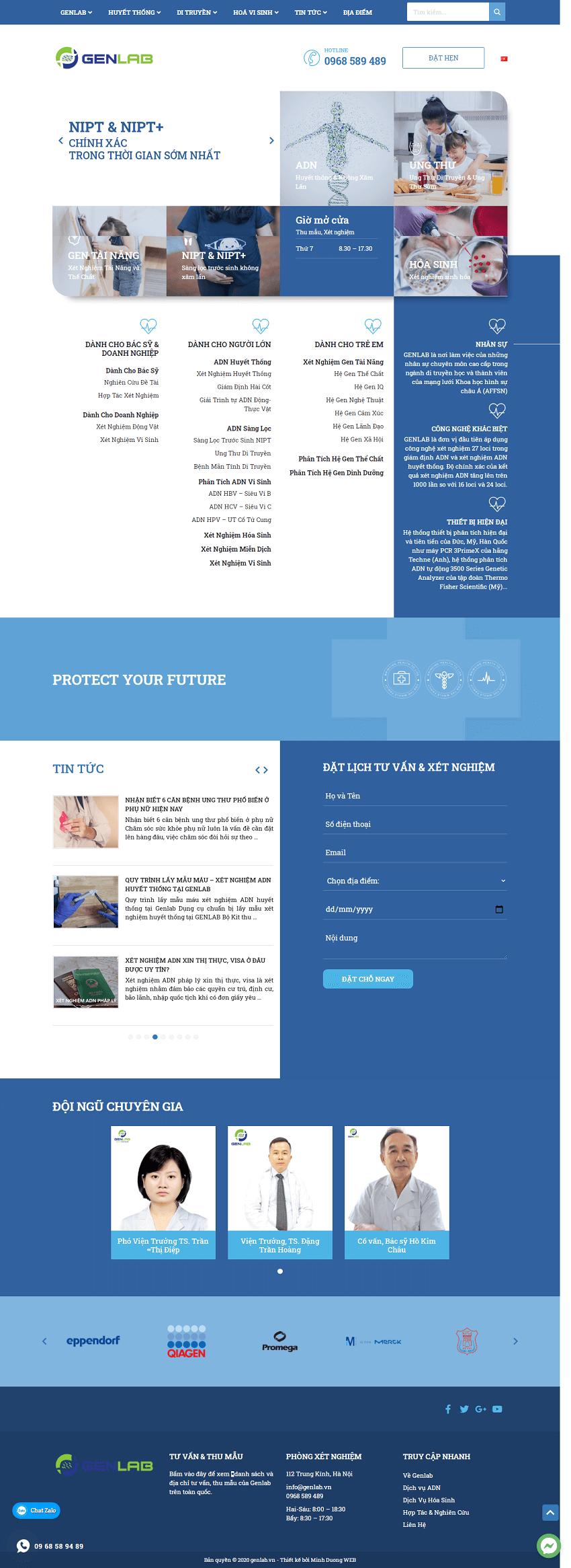 Web xét nghiện Genlab