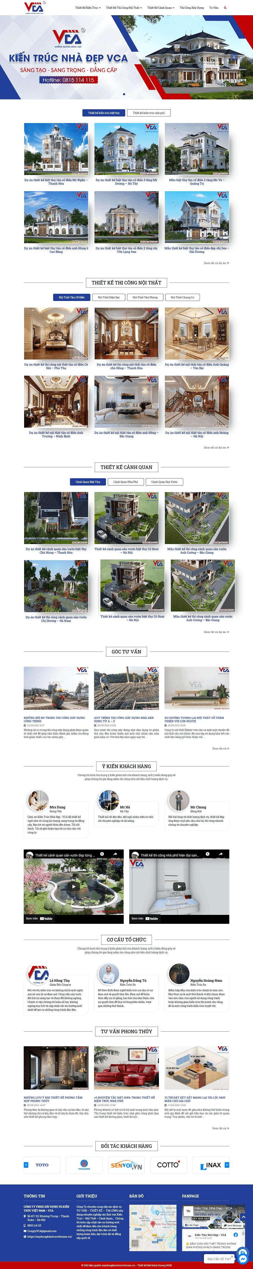 Web kiến trúc VCA